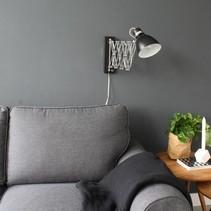 Wandlamp Spring uittrekbaar zwart