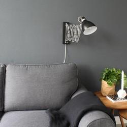 Uittrekbare Wandlamp Spring Zwart
