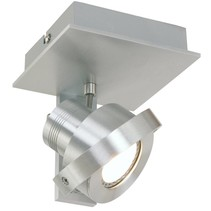 Opbouwspot Quatro LED 1-lichts staal