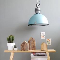 Hanglamp Bikkel Ø42 cm Licht Blauw