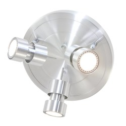 Plafondspot Natasja LED drielichts staal