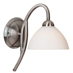 Wandlamp Capri boog staal