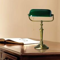 Bankierslamp Ancilla groen