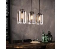 Hanglamp Toba 3-lichts x Ø20 cm oud zilver
