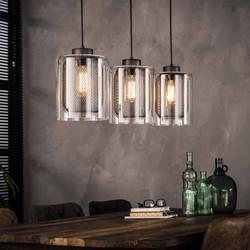 Hanglamp Toba 3-lichts Oud zilver
