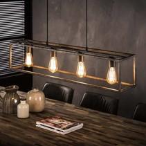 Hanglamp Cubic 4-lichts oud zilver