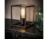 Modern industriële tafellamp Cubic oud zilver