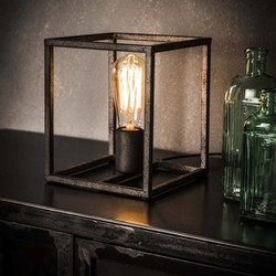 Minimalistische Tafellamp Cubic Oud zilver