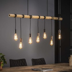 Hanglamp Japura 7-lichts Oud zilver