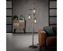 Industriële - Vloerlamp - Oud zilver - 3 lichts - Lampoon