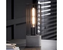 Landelijke - Tafellamp - Betongrijs - Draadijzer - Onix