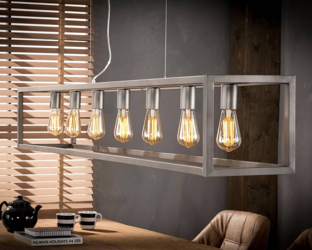Favoriete Industriële hanglamp! De Industriële hanglamp Quinn 7lichts zilver UO92