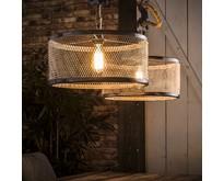 Landelijke - Hanglamp - Verweerd grijs - 2 lichts - Detroit