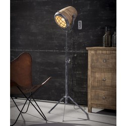 Vloerlamp Kingston XL ijzer / hout naturel