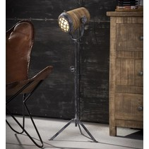 Vloerlamp Kingston L ijzer / hout naturel