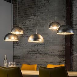 Hanglamp Teide 5-lichts metaal / oud zilver