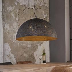 Hanglamp Cambal metaal / zwartbruin gevlamd
