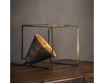 Industriële - Tafellamp - Oud zilver - Vierkant - Bink