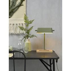 Tafellamp Cambridge Hout Groen