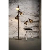 Vloerlamp Tiber 3-lichts ijzer / roest