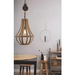 Hanglamp Liberty Bell zwart/bruin Ø40cm