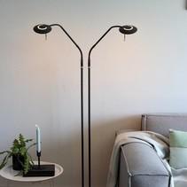 Vloerlamp Zenith LED 2-lichts zwart
