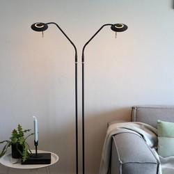 Vloerlamp Zenith 2-lichts Zwart