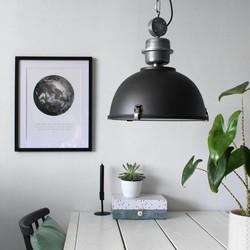 Hanglamp Bikkel Ø42 cm Zwart