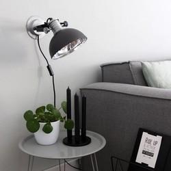 Verstelbare Wandlamp Brooklyn Zwart