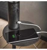 BelaLuz BelaLuz  vloerlamp Vermont Charcoal met USB oplader