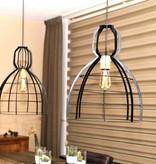 Lotus Lighting Lotus Lighting hanglamp ijzer / hout  Ibiza zwart