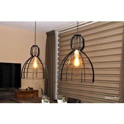 Hanglamp Ibiza Open structuur Zwart