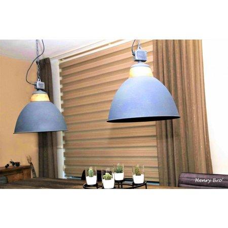Lotus Lighting Lotus Lighting hanglamp ijzer / hout  Rome betonlook