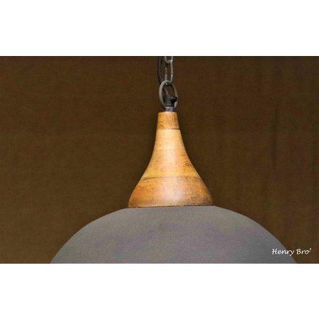 Lotus Lighting Lotus Lighting hanglamp ijzer / hout  Athene betonlook