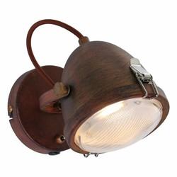 wandlamp Dex 1-lichts bruin
