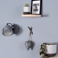 wandlamp Dex 1-lichts grijs