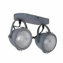 Opbouwspot Dex 2-lichts grijs