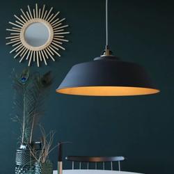 Hanglamp Roan 1-lichts zwart