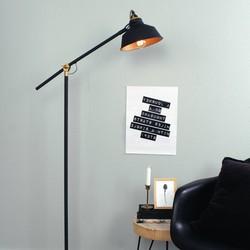 Verstelbare Vloerlamp Roan Zwart