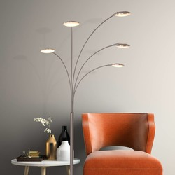 Vloerlamp Springfield Staal 5-lichts