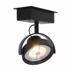 Opbouwspot Max 1-lichts zwart