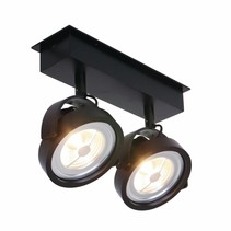 Opbouwspot Max 2-lichts zwart
