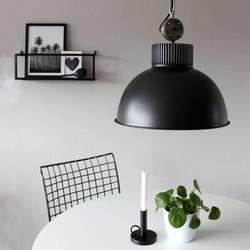 Hanglamp Jayson 1-lichts Zwart
