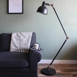 Verstelbare Vloerlamp Dominique Zwart