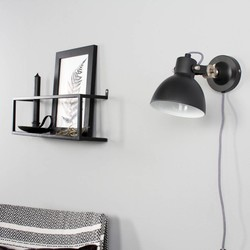 wandlamp Dominique zwart