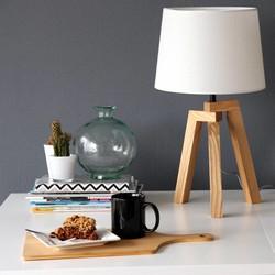 Tafellamp Bess Hout Wit