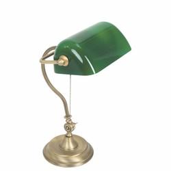 Bankierslamp Calais brons groen