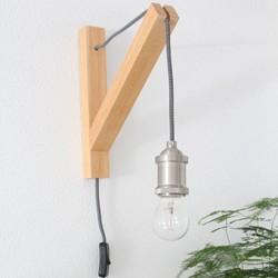 Wandlamp Duco Hout Bruin