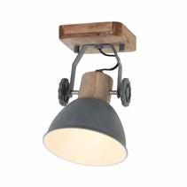 Wandlamp Gearwood 1-lichts grijs