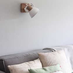 Wandlamp Gearwood 1-lichts wit